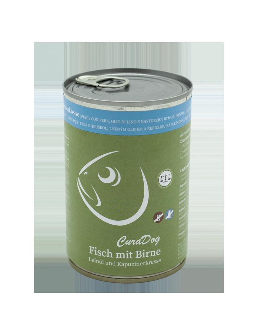 CuraDog Fisch mit Birne, Leinöl und...